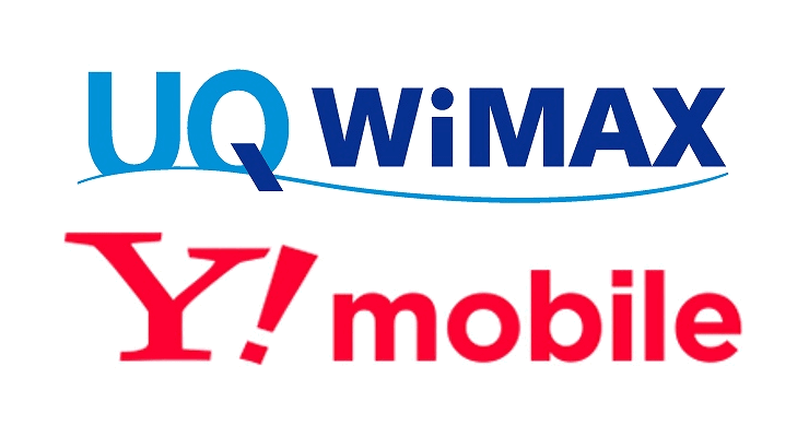 UQ WiMAXとY!mobileのロゴ