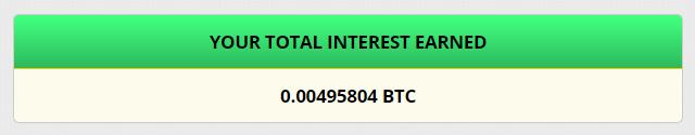FreeBitcoinの受取利息の総額