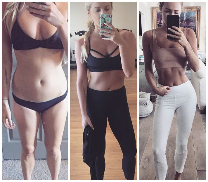 筋トレ前後で同じ体重の女性