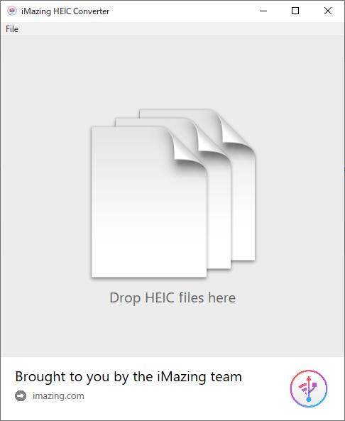 iMazing HEIC Converterのインターフェース