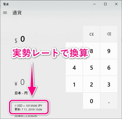 オンラインで為替レートを取得