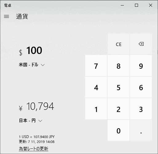 為替レートの換算例