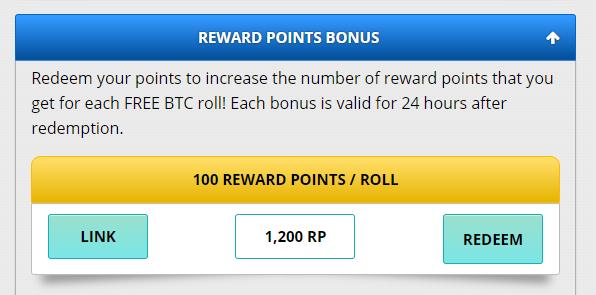 REWATD POINTS BONUSへの引き換え