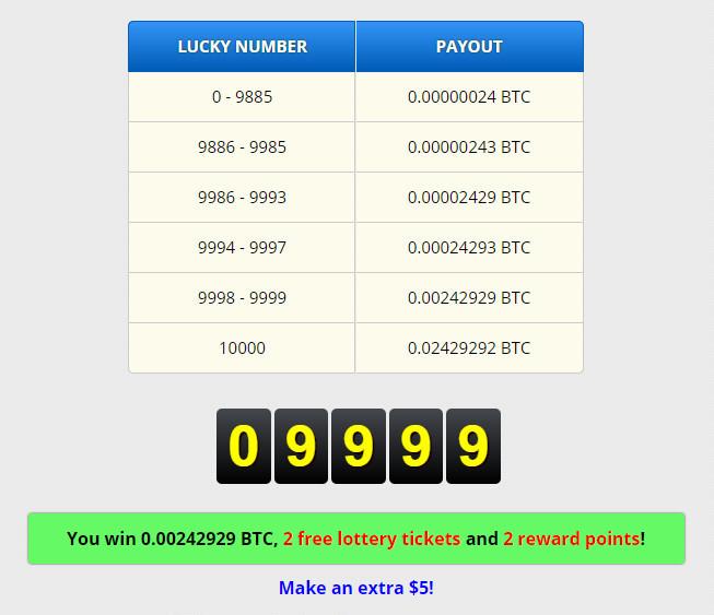 FreeBitcoin(フリービットコイン)で9999が当選