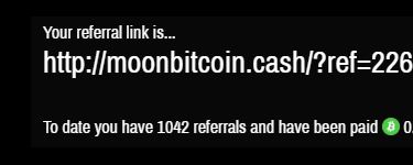 Moon Cashのreferralsは1000人超