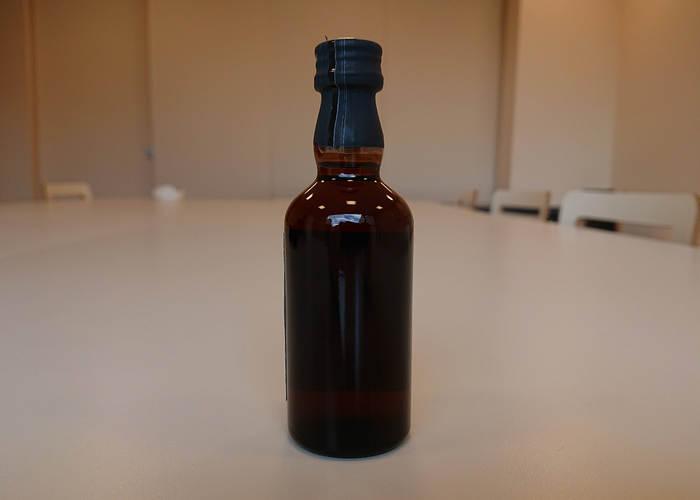 山崎55年ミニチュアボトル(背面)